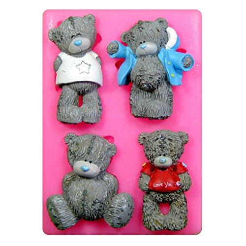 Tatty Bären Teddy Silikon Form für Kuchen Dekorieren, Kuchen, kleiner Kuchen Toppers, Zuckerglasur Sugarcraft Werkzeug durch Fairie Blessings