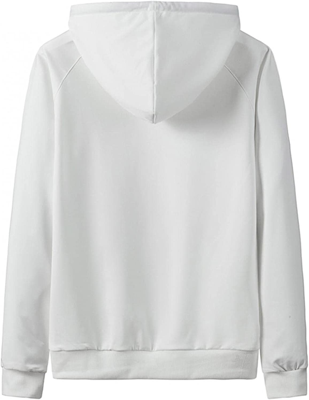 Qsctys Men's Casual Pullover Hoodies Long Sleeve Hooded Sweatshirts Crewneck Fashion T Shirts Blue Yellow Black White