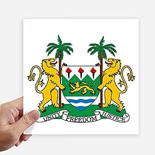 DIYthinker Sierra Leone Africa National Emblem Square Stickers 20Cm Wall Suitcase Laptop Motobike Decal 4Pcs