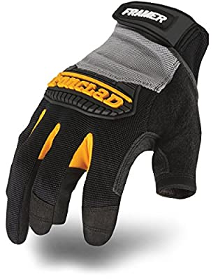 Ironclad Framer Work Gloves FUG, High Dexterity, Performance Fit, Durable, Machine Washable, L 1 Pair)