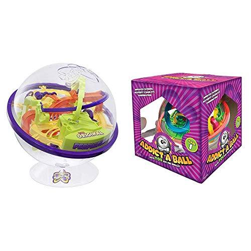 Spin Master Games 6022078 - Perplexus Original, Geschicklichkeitsspiel, 100 Herausforderungen & HQ Windspiration 501080 Kugellabyrinth Spiel, 20 cm/L