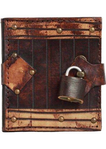 Handgemaakte echt leer navulbaar bruin dagboek Notepad Notebook Book Case Cover Schetsboek Plain hangslot - Chamois Vintage Vrouwen Mannen Kinderen Kantoor Product Plain Paper Gift Kerstmis X-Small BRON
