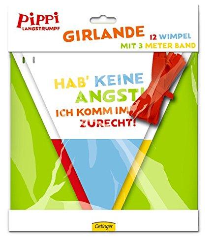 Preisvergleich Produktbild Wimpelkette * PIPPI LANGSTRUMPF * zur Dekoration bei Kindergeburtstag und Motto-Party / / Kinder Girlande Deko Pipi