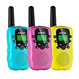 Kids Walkie Talkies for Girls Toys, 3 Pack Walky Talky for Boy and Girls Age 4-12, Two Way Radio Toys