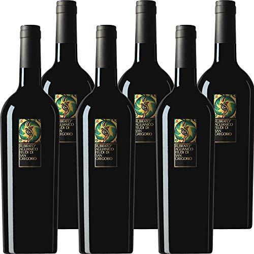 Aglianico Feudi San Gregorio | Rubrato | 6 Bottiglie 75 Cl |Vino Rosso della Campania | Idea Regalo