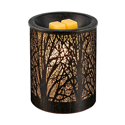 SUNPIN Metal Wax Warmer, Iron-Art Black Owl Pattern Candle Warmer, Ideal for Home Office Aromatherapy