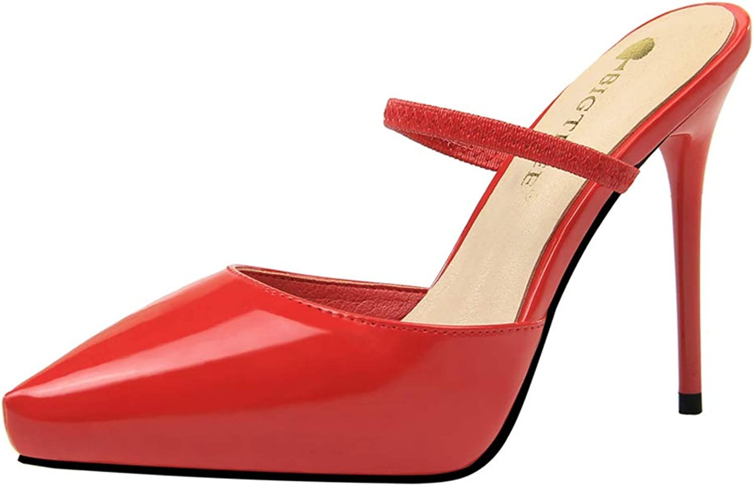 Sandals European Style Simple Stiletto Women's shoes Super high Heel Pointed Waterproof Platform Sandals and Slippers,G,36