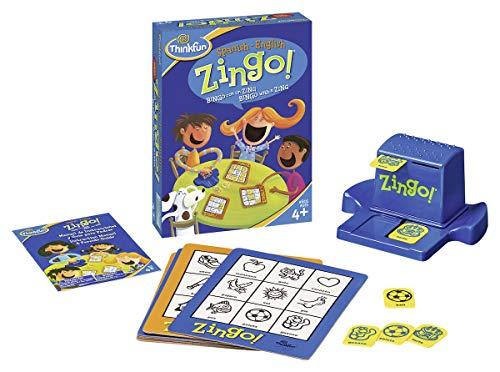 Think Fun- Zingo Juego Bilingual, Color Azul (Ravensburger 76321)