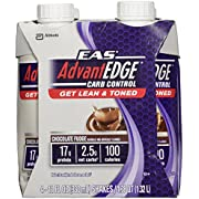 EAS AdvantEDGE Carb Control Chocolate Fudge Carton Ready To Drink, 11-Fluid Ounce, 4 Count