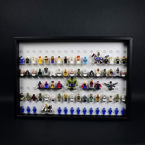 FiguCase Click System Vitrine 50 x 70 für 102 eure Lego® Figuren schwarz weiß