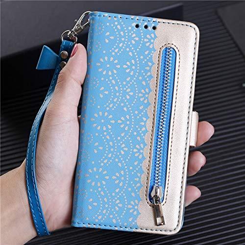 HHF Teléfono móvil Accesorios para Huawei P20 Lite P30 Pro P40 Lite P Smart 2020, Funda de Lujo Funda de Cuero Funda de Cuero para Huawei Honor 10 20 Pro (Color : Blue, Material : For P30 Pro)