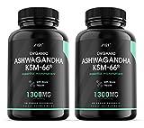 Organic Ashwagandha KSM-66® Cápsulas - Hecho con BioPerine® para una mayor biodisponibilidad, sin gluten, sin OGM, 90 cápsulas veganas (paquete de 2)