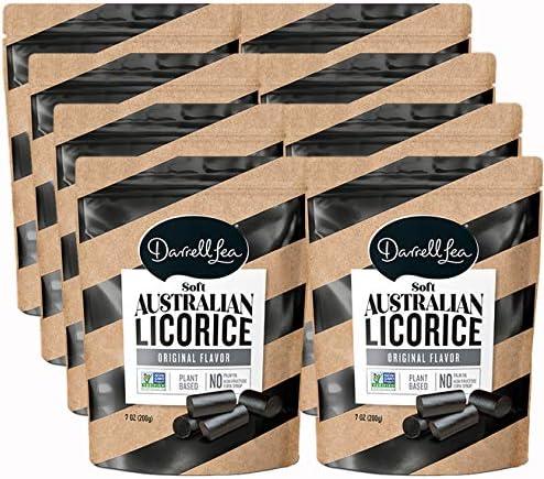 Darrell Lea Black Soft Australian Made Licorice 8 7oz Bags NON GMO NO HFCS Vegetarian Kosher product image