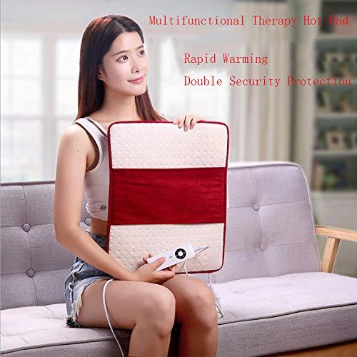 HKDJ-verwarmingsdeken, verwarmingskussen met 5 standen instelbaar, kan worden gebruikt om voeten en buik te verwarmen, geschikt voor bureaustoelen 43 x 36 x 1 cm