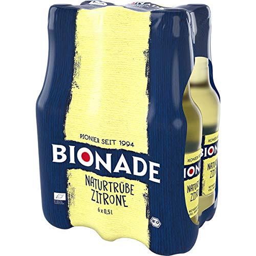 Bionade Naturtrübe Zitrone PET, 6er Pack (6 x 0,5 l) EINWEG