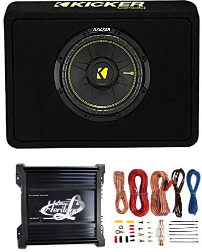 Kicker 40TCWS104 10' 600W 4 Ohm Complete Car Subwoofer Bass Package with...