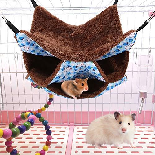 Hamster Hangmat, knaagdier, hangmat, kleine dieren, hol, warm hangend bed, nest, slaapzak, kleine dieren, slaapmat voor frettjes, eekhoorns, Chinchillas, Sugar Gilder andere kleine dieren, blauw