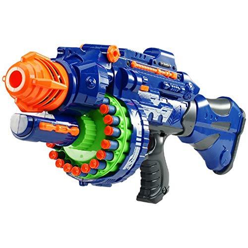 Taurusb Blaster Motorizado, Pistola De Juguete Eléctrica 20 Ráfagas para Niños De Balas De Plástico Elástico Suave para Luchar contra El Campo De Francotiradores Juguetes Al Aire Libre para Niños