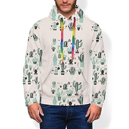 longing-summer Pull à capuche Cactus Fruit Sweat-shirt à capuche pour homme - - Medium