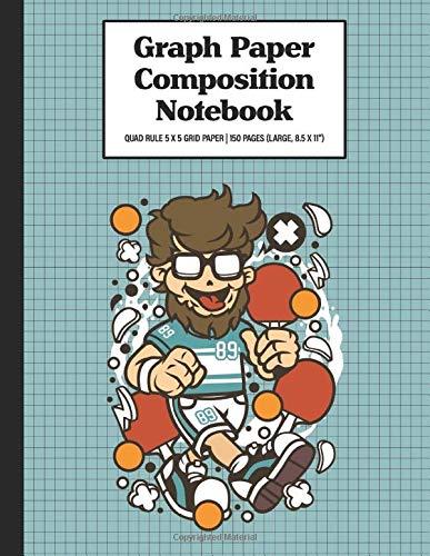 Graph Paper Composition Notebook Quad Rule 5x5 Grid Paper | 150 Sheets (Large, 8.5 x 11
