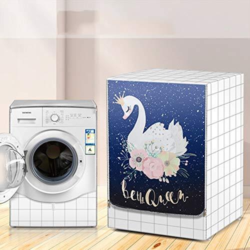Yuanyuanliu Il Cestello della Lavatrice Coperchio della Macchina Antisolari Impermeabile Copre Incontrate Elettrodomestici Lavanderia Polvere Shroud Dust (Color : H, Size : XL)