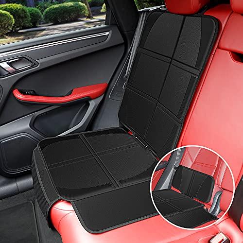 2 in 1 Kindersitzunterlage 2 Abnehmbaren Rückenlehnen Autositzschoner Isofix Geeignet Autositzauflage Wasserabweisend Universell Passend KYG