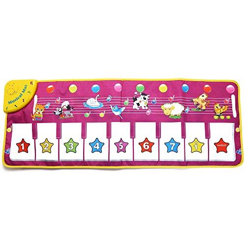 yitao Instrument de Jouet Kids Animal Sound Singing Piano Rug Learning Educational Musical Mat Toy Funny and Educational Gift for Kids Kids Kids Kids Kids Kids
