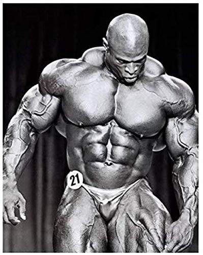 XQWZM Leinwand Poster, Bodybuilding Motivation Bodybuilder Mr. Olympia Kunst Leinwand Poster, Für Schlafzimmer Dekoration Modernen Fitnessraum Wand-dekor 45 * 60 cm