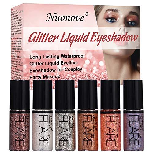 Liquid Glitter Eyeliner, Sombras de ojos brillantes, Sombras