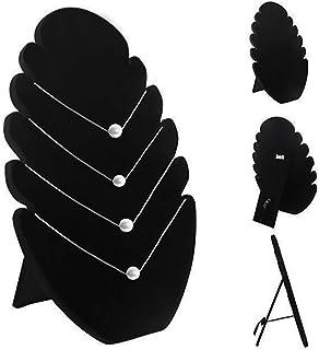 CAILI Expositor de Collares, Organizador Negro para Joyas, Expositor de Collares de Terciopelo Negro, Soporte para Colgar ...