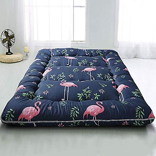 MSM Gedruckt Japanisch Matratze,Jungen Mädchen Klappbare Navy Flamingo Bett,Camping Matratze Futton Schlafsofa,Dicke:10cm Flamingo 180x200cm