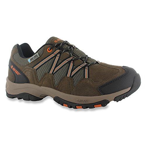 HI-TEC Mens Dexter Low Waterproof Brown Athletic Hiking Shoes 14
