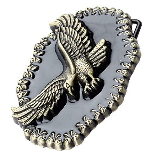 Baoblaze Hebilla de Cinturón de Vaquero Occidental Vintage Accesorios de Ropas para Hombres - #3, tal como se describe