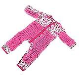 B Blesiya Niedliche Baby Strampler Wischmopp Spielanzug Overall Jumpsuit Babykleidung, aus Baumwolle - Rosa, 90 cm