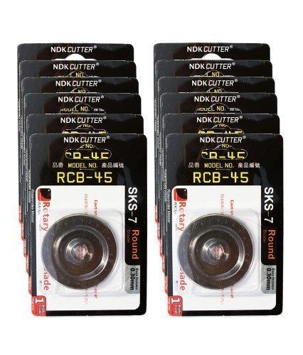 12 X Rotary Cutter Blades 45mm (Fits All Including OLFA, FISKARS & DAFA)