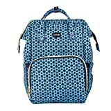 LuvLap Lily Travel Multifunctional Waterproof Diaper Bag-Backpack Cum Tote Bag (Blue Star)