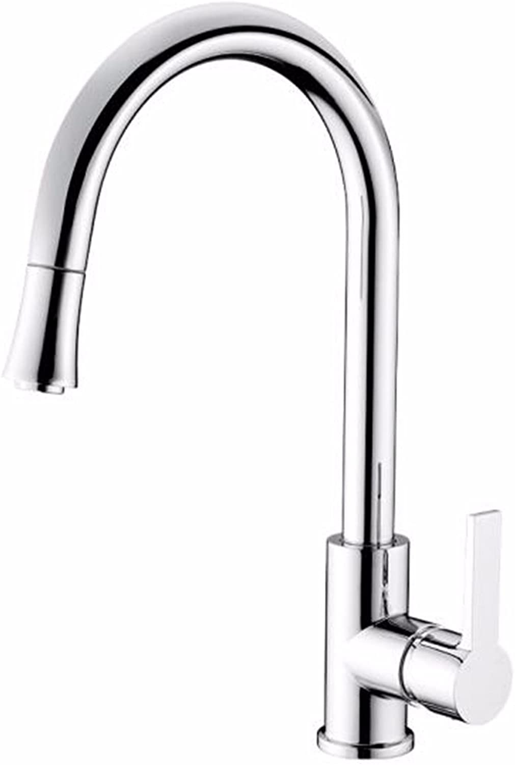 Hlluya Professional Sink Mixer Tap Kitchen Faucet The copper hot and cold dish washing basin pull-down faucet swivel Faucet