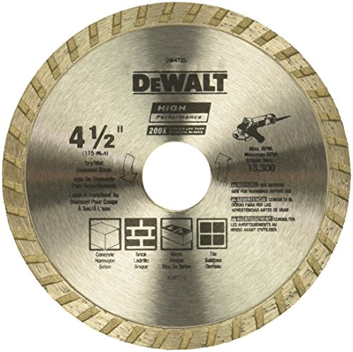 DEWALT Diamond Blade for Masonry, Dry Cutting, Continuous...