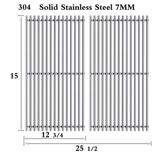 Htanch SF4362(2-Pack) Stainless Steel Cooking Grid Grates Replacement for Select Gas Grill Models by Broil King, Broil-Mate,Huntington and Sterling Gas Models Set of 2 Bk Huntington Island Light