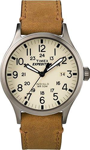 Timex Herren Quarz Uhr mit Leder Armband TWC001200