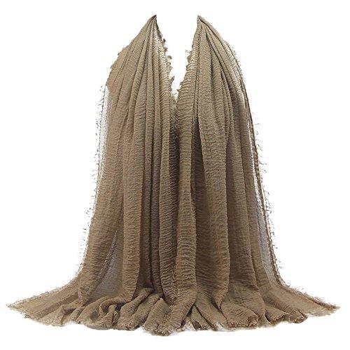 Jaysis Schal Damen Winter XXL, Premium-Viskose Maxi Crinkle Cloud Hijab Schal Schal Soft Islam Muslim