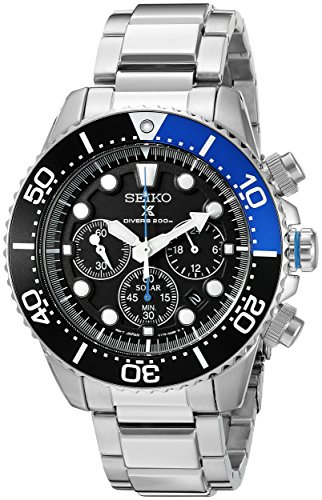 Seiko Men's SSC017 Prospex Analog Japanese Quartz Solar...