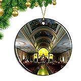Hqiyaols Ornament Catedral de Costa Rica de Alajuela Navidad Adornos Colgantes Pieza Cerámica Recuerdo Ciudad Viaje Regalo