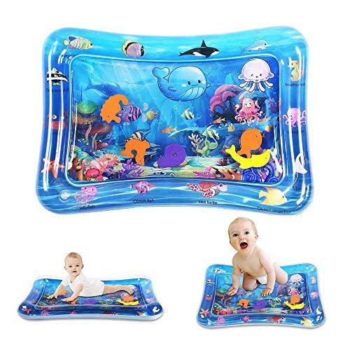 MMoneRffi bébé tapis d'eau Tummy Time Water Mat Baby Toys Infant Activity Centers jouet enfant en bas âge Nouveau-né Early Development Water Play Mat pour 3 6 9 Mois bébé
