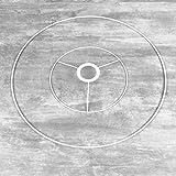 Lealoo - Juego de estructura de 20 a 40 cm de diámetro para suspensión cónica, cabeza redonda de 20 cm de diámetro, anillo desnudo de 40 cm de diámetro, epoxy blanco, para casquillo E27