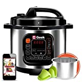 Geek Robocook Zeta5 Automatic 5 Litre Electric Pressure Cooker with 11 in 1 Function, Feather Touch Preset Menu, Stainless Steel Pot, Black