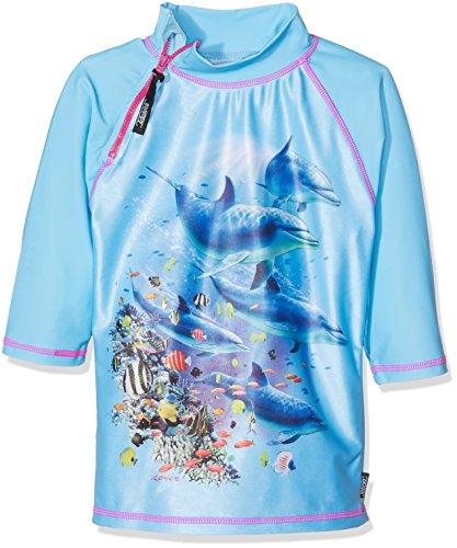 Swimpy Mädchen Langarm Badeshirt mit UV Schutz UPF 50+ Delphin, Blau, 1-2 Years, 86-92 cm