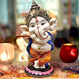 Product Dimensions (height x length x width) in CMs: 13.5x7x7 Care Instructions: - Don't wash, use dry cotton cloth to remove dust and dirt. Package Contains: 1 Lord Dancing Flute Ganesha Idol Suitable For: Home Decoration,Office Décor on Ganesh Chat...