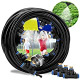 Misting Cooling System Mist Cooling System DIY Outdoor Mist Irrigation Cooling System Leak Proof Cooling System for Patio Garden Lawn Greenhouse (66)