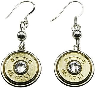 45 Colt Starline Thin Brass Bullet Dainty Earrings